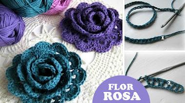 Cómo se teje una Rosa Crochet / DIY