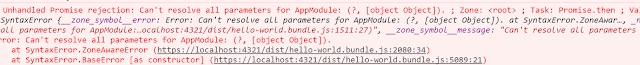 AppModule is not recognized by CompileMetadataResolver
