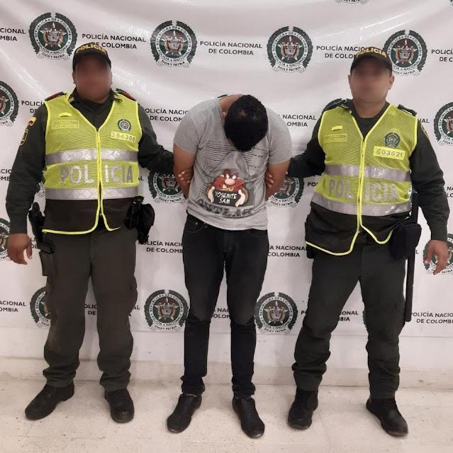 Jíbaro a domicilio en moto capturado en Riohacha