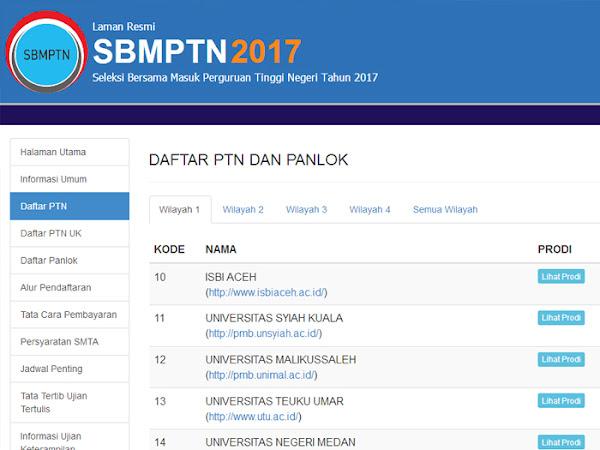 Mekanisme Pendaftaran dan Jadwal Penting SBMPTN 2017