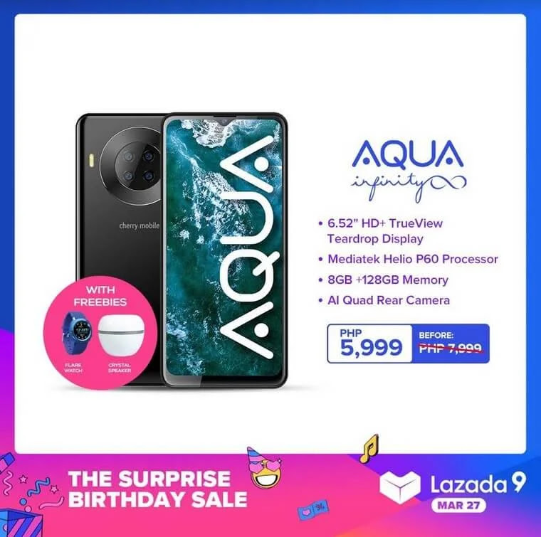 DEAL ALERT: Cherry Mobile Aqua S9 Infinity On Sale for Only Php5,999 Plus Freebies worth Php3,500
