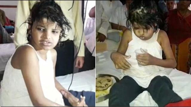 Video polis jumpa budak perempuan yang hidup bersama monyet dalam hutan, berjalan guna kaki dan tangan serta takut dengan manusia