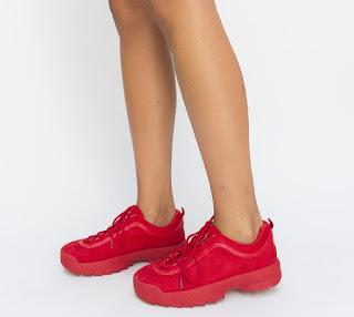 Pantofi Sport Cranck Rosii