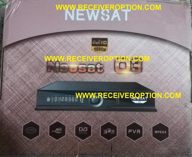 NEWSAT O3 HD RECEIVER DUMP FILE