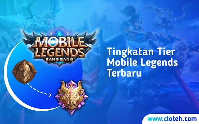 Urutan Tier Rank Mobile Legends  ML Bang Bang Terbaru