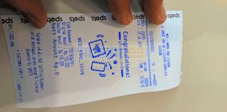 Struk dari penukaran Voucher McDonald's 100.000
