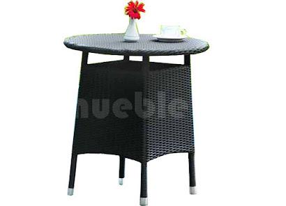 mesa comedor terraza en rattan sintetico 6064