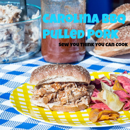 Featured Recipe | Carolina BBQ Pulled Pork from Sew You Think You Can Cook #recipe #SecretRecipeClub #pork #pulledpork #bbq #barbecue #crockpot