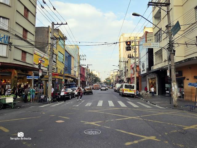 Vista ampla de trecho da Rua Oriente - Brás - São Paulo