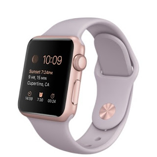 LOWEST PRICE in UK  Apple Watch Sport MLCH2 38mm Rose Gold Aluminum Case and Lavender Sport Band £222.99