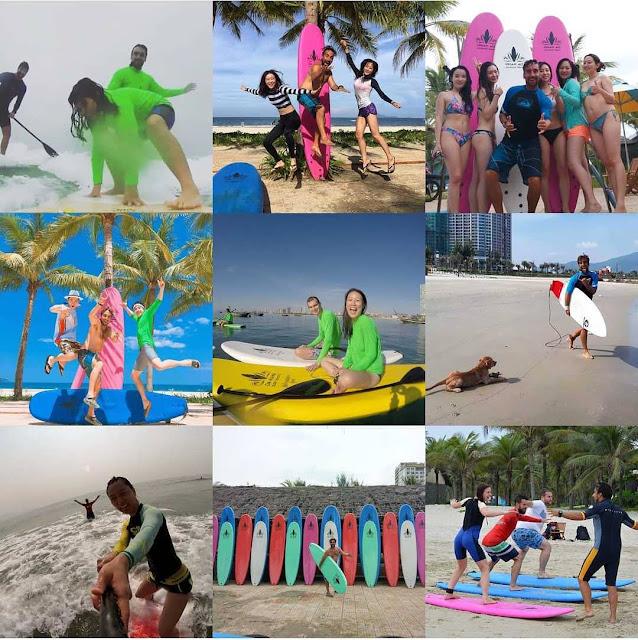 """""""Da Nang Surf School"""", lớp học lướt sóng đặt biệt tại Đà Nẵng"""