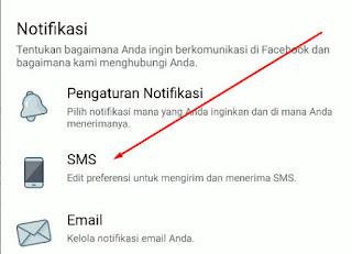 Cara Menghentikan Pemberitahuan SMS Facebook