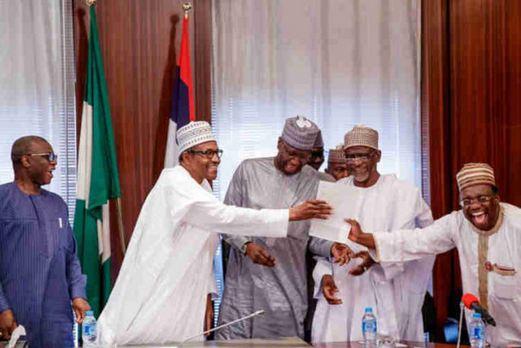 President Muhammadu Buhari receives his WAEC certificate