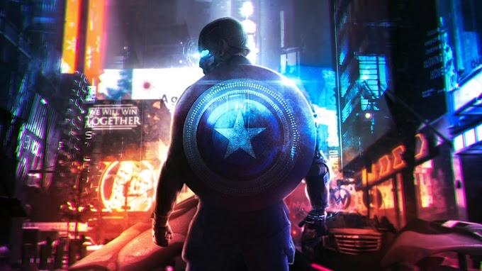 Papel de Parede Capitão América Cyberpunk