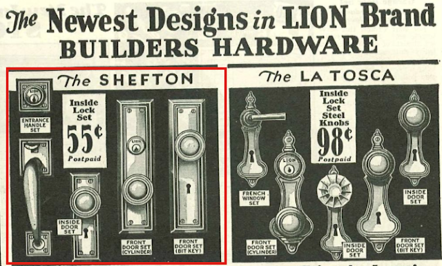 Sears Shefton door hardware 1930 sears building materials catalog