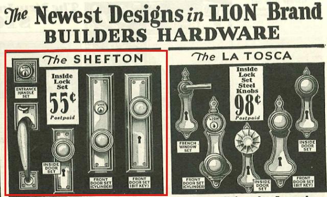 Sears Shefton door hardware 1930 sears building materials catalog