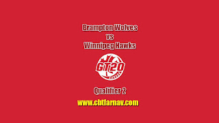Global 20 Canada Winnipeg Hawks vs Brampton Wolves Qulifier 2 Match Prediction Today