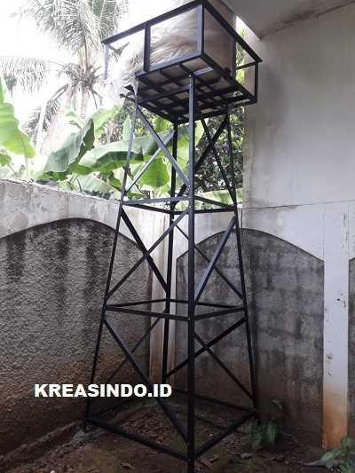 Menara Air Besi pesanan Bpk Wisnu di Pancoran Mas Depok