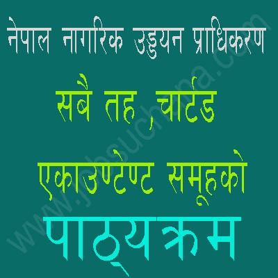 Syllabus Of Nagarik Uddyan Pradhikaran (CAAN) Level 9 and 10  CA Group