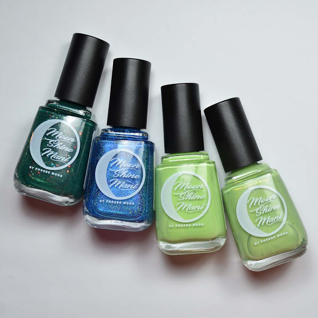 nail polish bottles in a flat lay arrangement