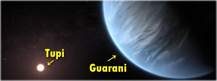 exoplaneta guarani - estrela tupi