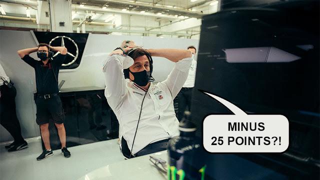 Bahrain GP Mercedes aghast at their minus 25 points