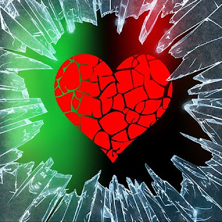 Heart broken love image, hate love image