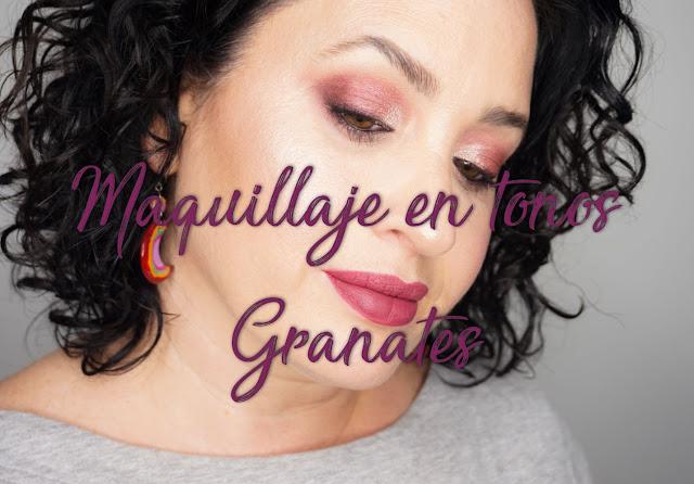 Maquillaje en tonos granates