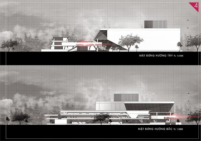 trung tâm sinh hoạt văn hóa nghệ thuật đồ án kiến trúc