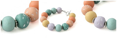Colourful Beaded Bracelet by Lottie Of London Jewellery
