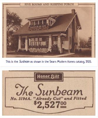Sears Sunbeam shown in 1925 Sears catalog