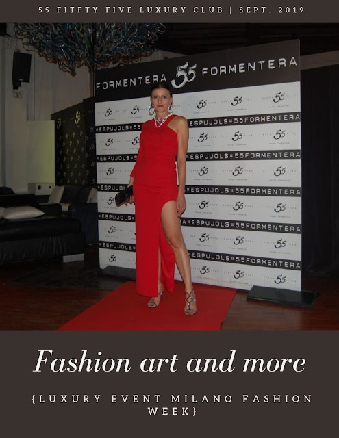 red dress luxury event