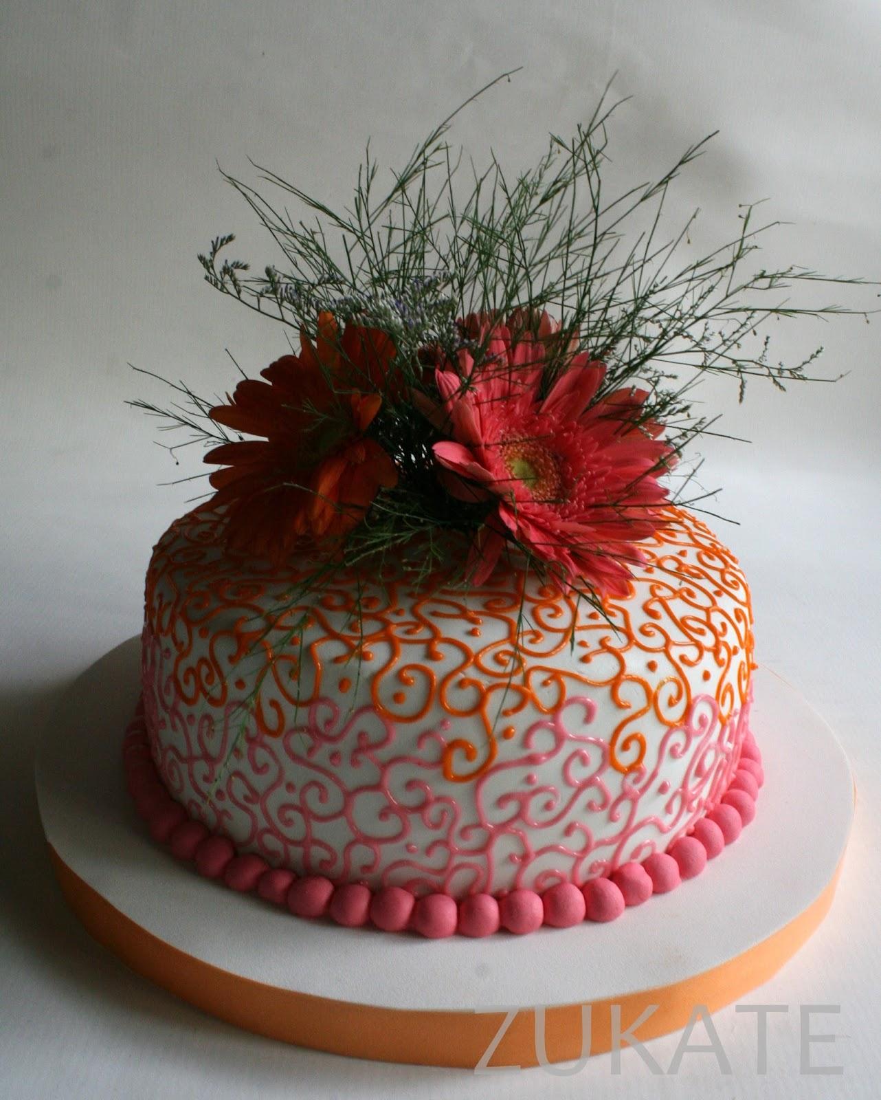 Torta De Flores Naturales Para Sandra Zukate