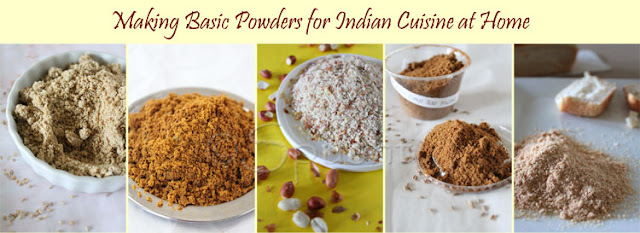 making basic powders for Indian cuisine at home instead of purchasing from the store