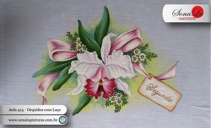 Aula 414 - Orquídea com Laço