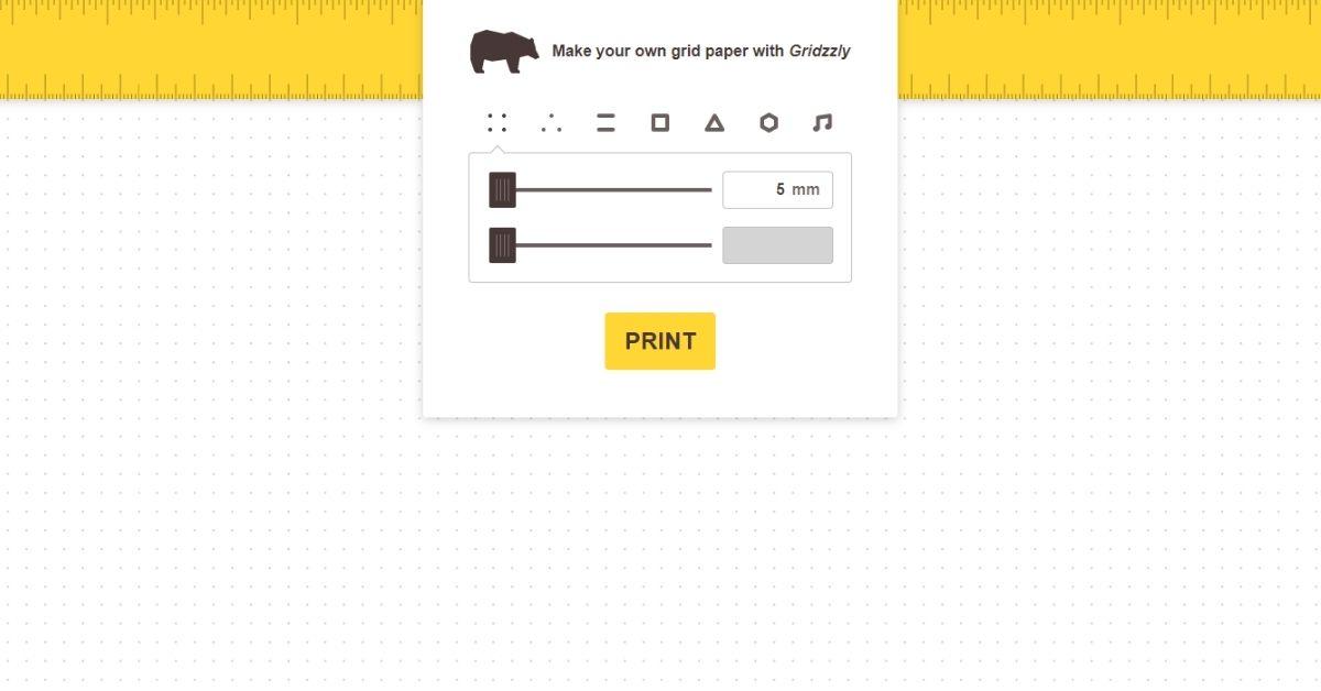 موقع يتيح تصميم ورق مسطر بأشكال متنوعة