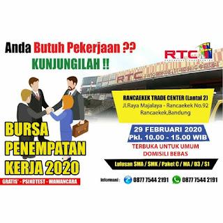 Lowongan Kerja Job Fair Rancaekek Trade Center (RTC) Terbaru 2020
