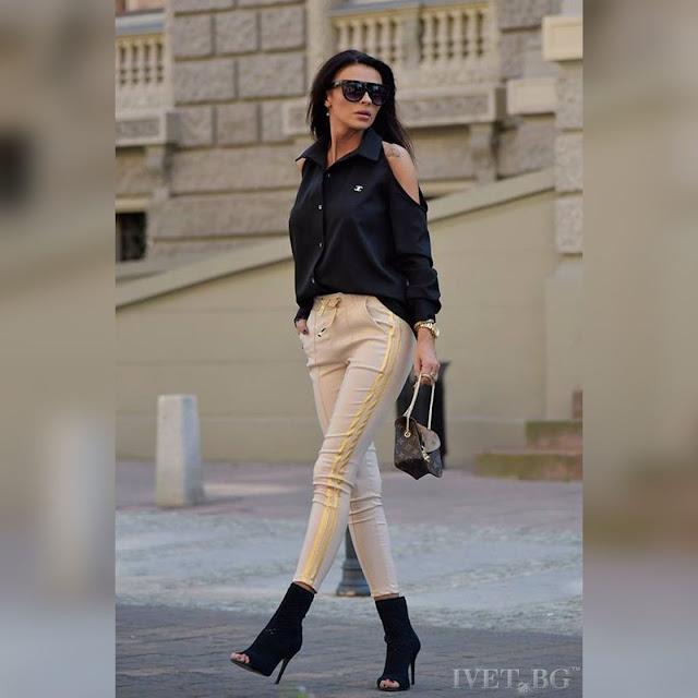 Εντυπωσιακό γυναικείο πουκάμισο μαύρο ZANITA BLACK