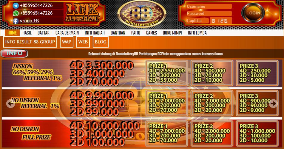 Bandar Judi Online Dengan Hadiah Terlengkap Dunia Lottery 88