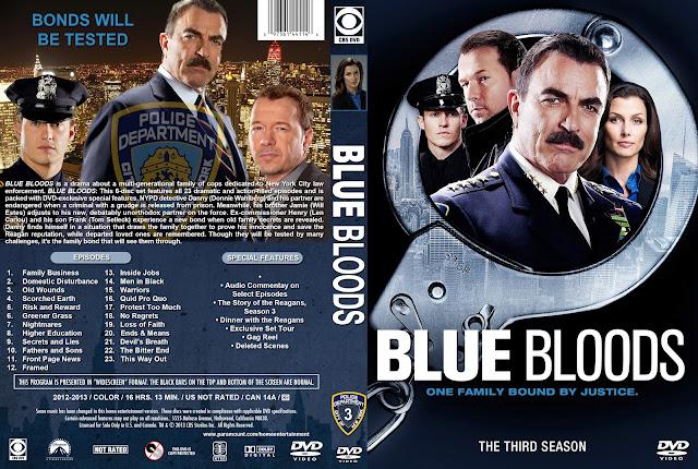 Capa DVD Blue Bloods Terceira Temporada Completa