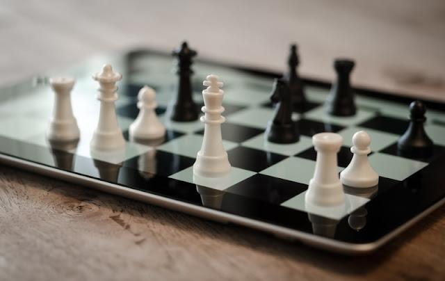 iPadのチェス盤