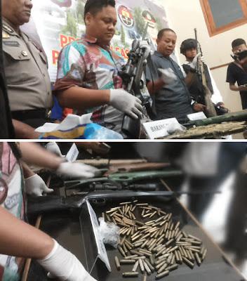 Polisi Jombang Tangkap Dua Pemilik Senpi Rakitan dan Ratusan Peluru