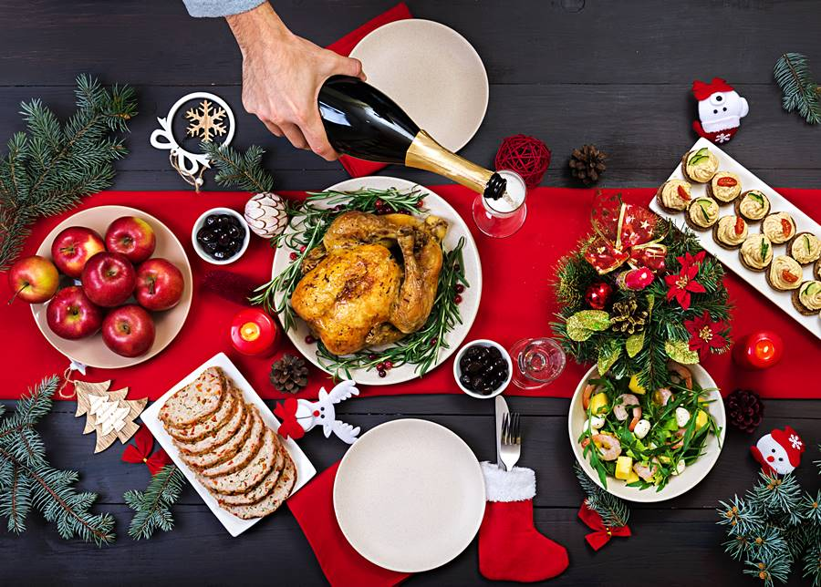 Cena navideña saludable