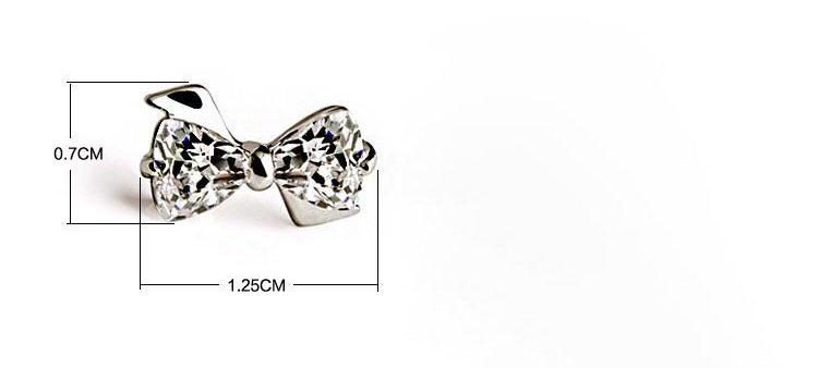 艾莉水晶蝴蝶結耳環