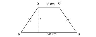 Perhatikan gambar trapesium ABCD di bawah ini  Cara Mencari Tinggi Trapesium bila Diketahui Luas, Panjang Sisi Atas dan Sisi Bawahnya
