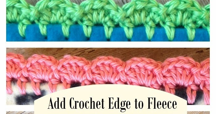 Crochet Edge on Fleece Blanket Tutorial - The Friendly Red Fox