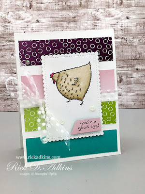 With the Hey Chick Stamp Set and this Designer Series Paper Scrap Technique you're surly going to be a good egg.  Click here to learn more