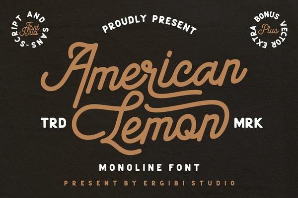 American Lemon Font Duo