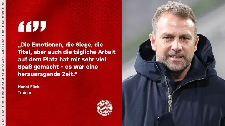 OFFICIAL: Hansi Flick's Bayern contract terminated as requested