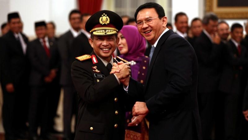 Tito Karnavian dan Basuki Tjahaja Purnama